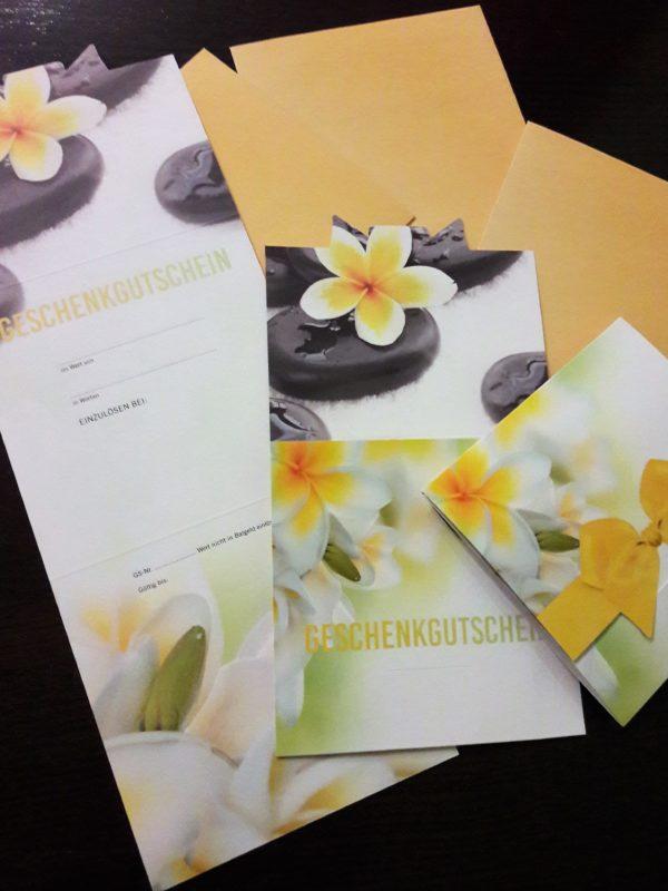 Gutscheine von Marion Weiser - Gesundheit schenken