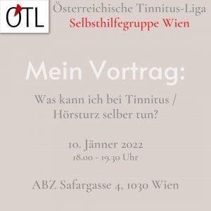 Einladung zum Tinnitus Vortrag in Wien